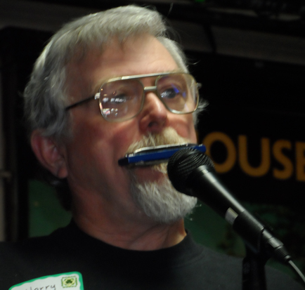 Harry Rhodes played three different harmonicas, including one a scant inch long.