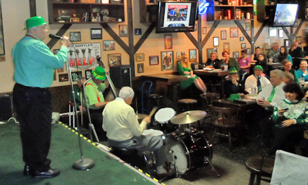 Jim and Toni Degnan handled technical requirements for the talent show, including recruiting musicians for Degnan's temporary Irish Dixieland Band. Band members, all part of the Kings of Swing, sang, played and joked throughout the event.