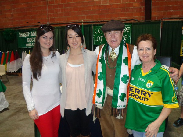 Irish roses Megan Foley and Danielle Ybarra, Leo Crowley and Noreen Ybarra